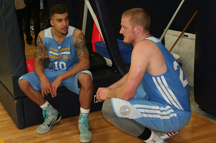 Trevor Wages (Colorado School of Mines) worked out with the Nuggets on Monday, June 16.