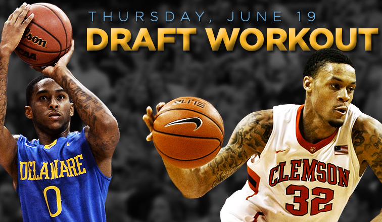 The Nuggets plan to evaluate K.J. McDaniels of Clemson and Davon Usher of Delaware as they continue preparations for the 2014 NBA Draft on June 26.