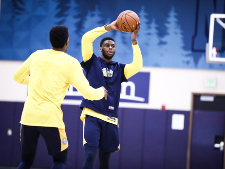 Nuggets Practice on Day Between Games