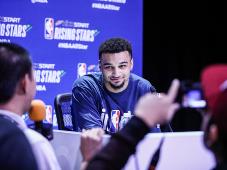 Jamal Murray at Rising Stars Media Circuit