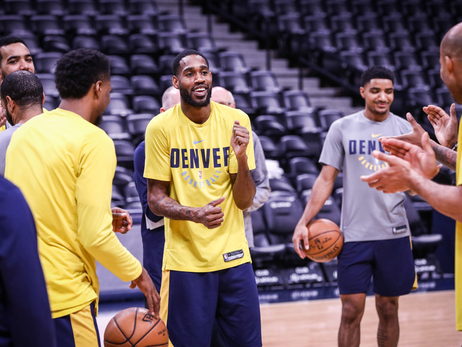 Nuggets Hit the Court Before Taking on Pistons