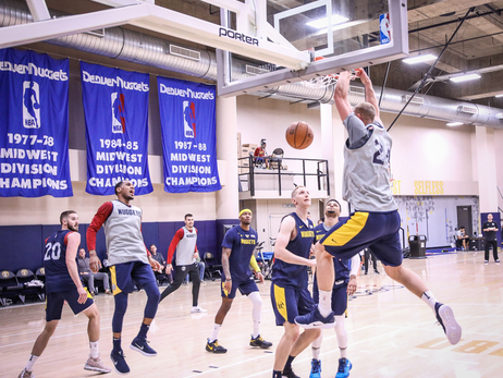 Nuggets Practice Ahead of Home Opener