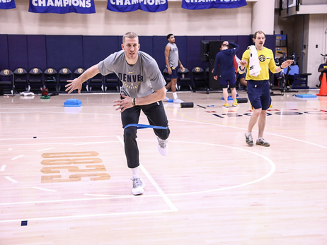 Nuggets Practice Before Thunder