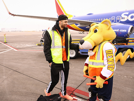 Nuggets Trade Places with Southwest Airlines