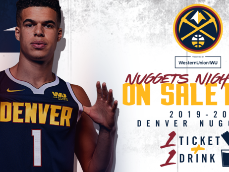 The Denver Nuggets are excited to bring back Nuggets Night Out and Family Night Promotional Offers.