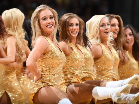 Denver Nuggets Dancers & Rocky support  Salvation Army Red Kettle Campaign