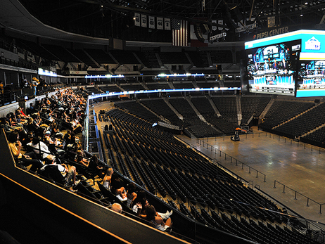 The Nuggets 2014 NBA Draft Party in the Land Rover Denver Club at Pepsi Center on Thursday, June 26.