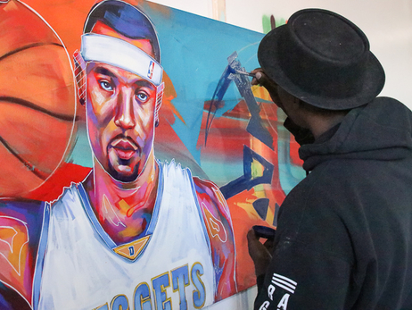 Kenyon Martin Mural | Behind the Scenes