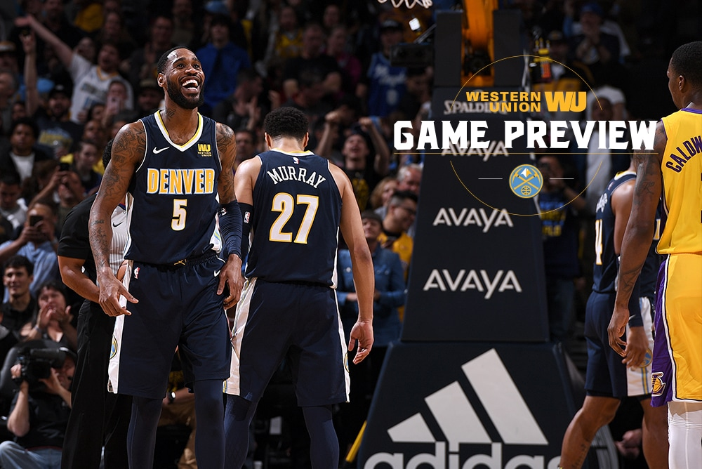 Game Preview: Nuggets Look to Make it Two Straight Against Lakers