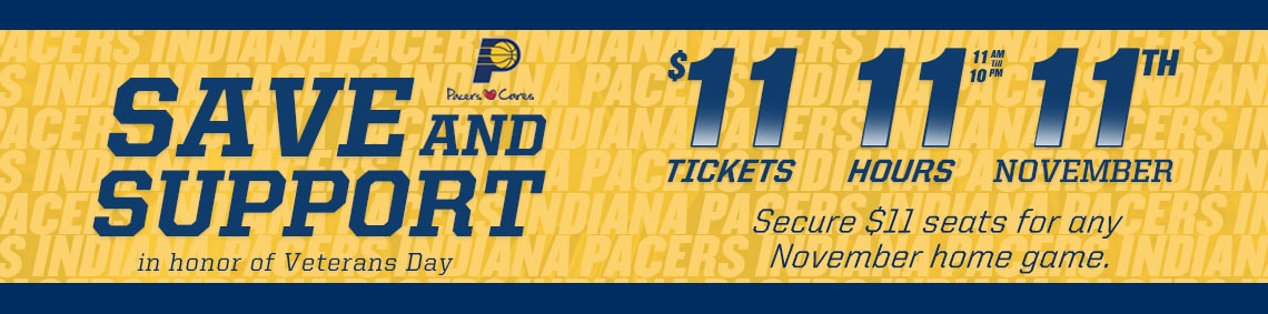 Pacers 11/11 Promotion
