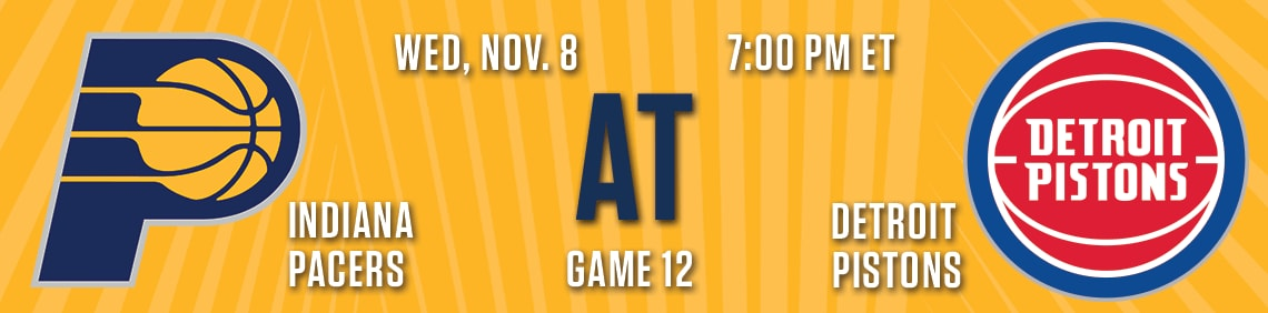 Pacers vs Pistons