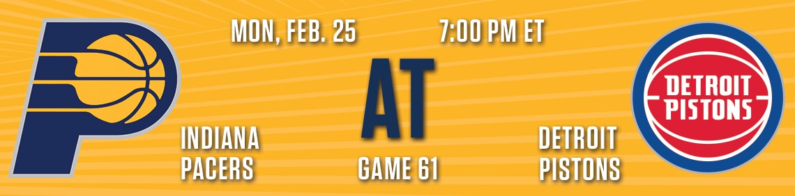 Pacers at Pistons