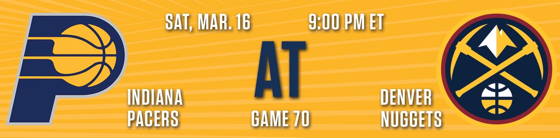 Pacers at Nuggets