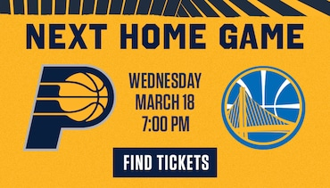 Next Home Game - Pacers vs Warriors