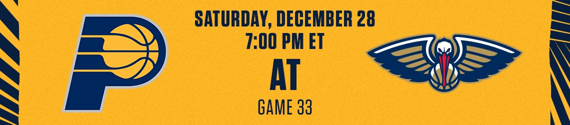 Pacers at Pelicans
