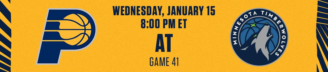Pacers at Timberwolves