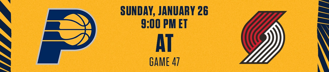 Pacers at Trail Blazers
