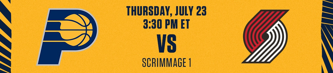Pacers vs Trail Blazers (Scrimmage)