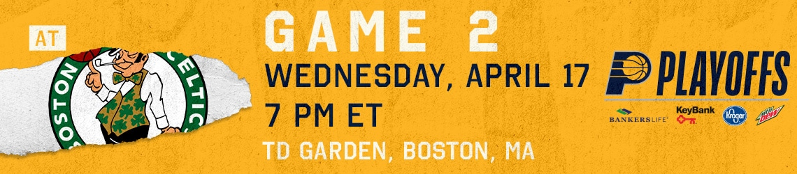 Pacers at Celtics (Game 2)