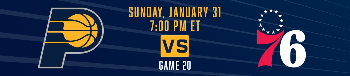 Pacers vs 76ers