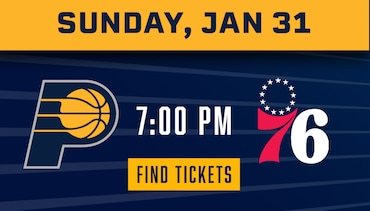 Pacers vs 76ers  - Tickets