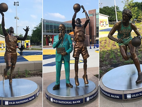 Statues Honor Four Basketball Icons from Pacers Sports & Entertainment