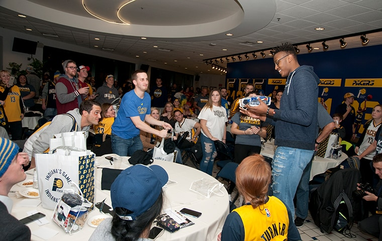 Myles Turner with Pacers Fan Zone