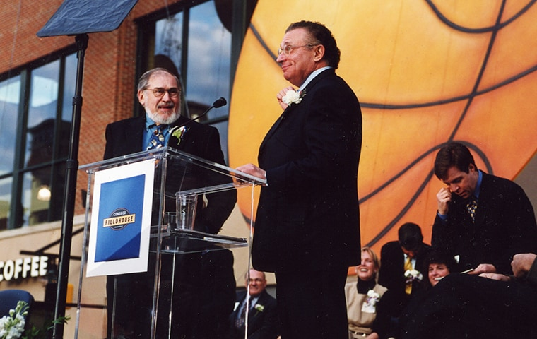 Herb and Mel Simon at the opening of Conseco Fieldhouse
