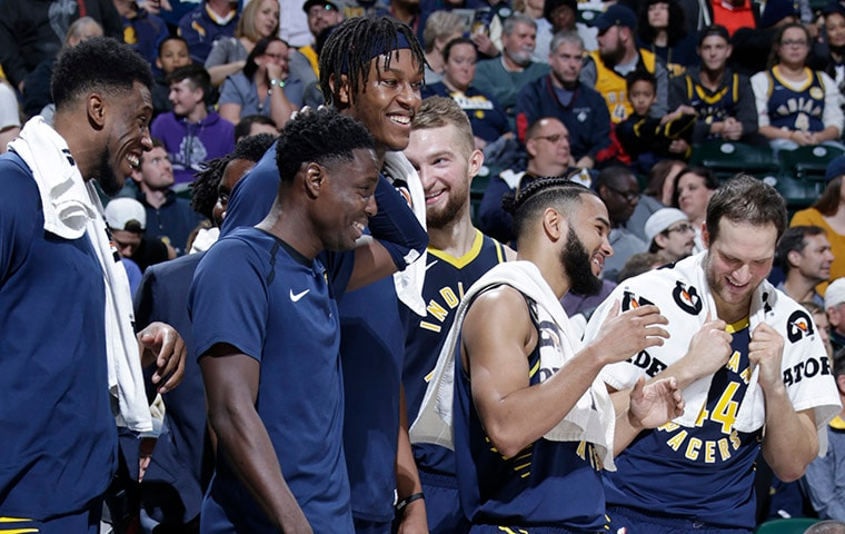 Pacers bench