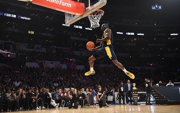 2018 All Star Saturday Oladipo Steps Into Spotlight Represents Pacers In Dunk Contest