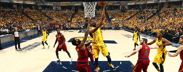 Thaddeus Young Goes Up to Score