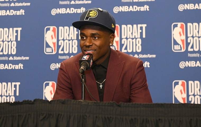 Watch Aaron Holiday's Introductory Press Conference