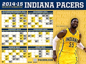 Roy Hibbert 2014-15 Pacers Schedule Wallpaper