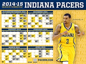 George Hill 2014-15 Pacers Schedule Wallpaper