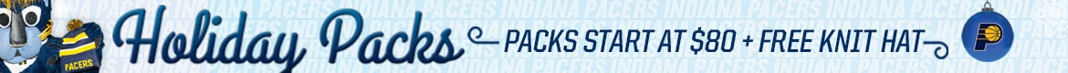 Pacers Holiday Packs - Start at $80 + Free Knit Hat