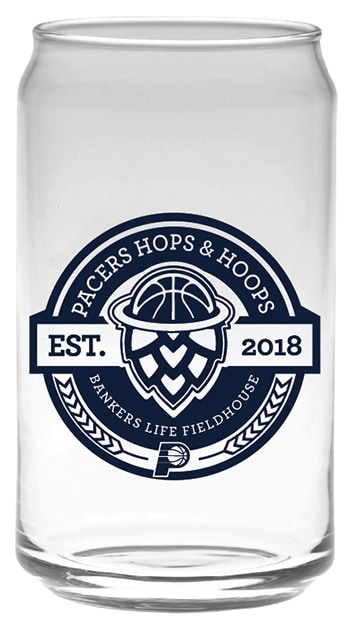 Pacers Hops and Hoops Glass