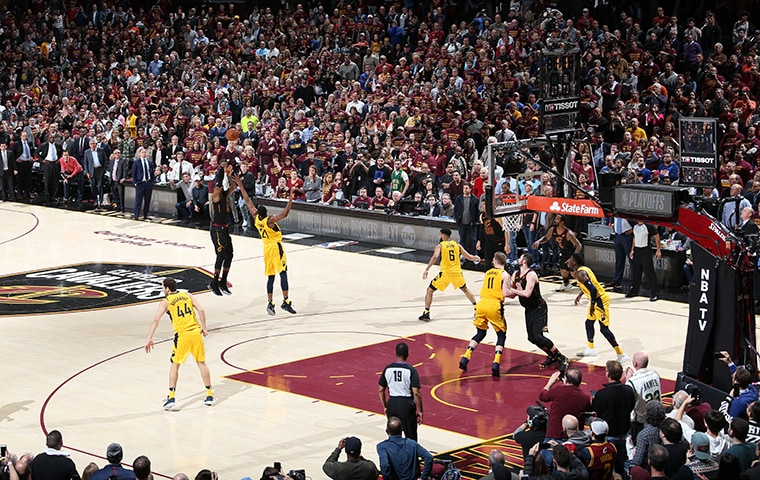 LeBron James game-winning shot