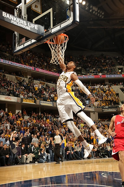 Paul george slam dunk gallery indiana pacers january 18 2014 paul george throws down a 360 degree windmill dunk in a voltagebd Gallery