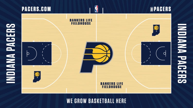 Pacers unveil new uniforms, floor