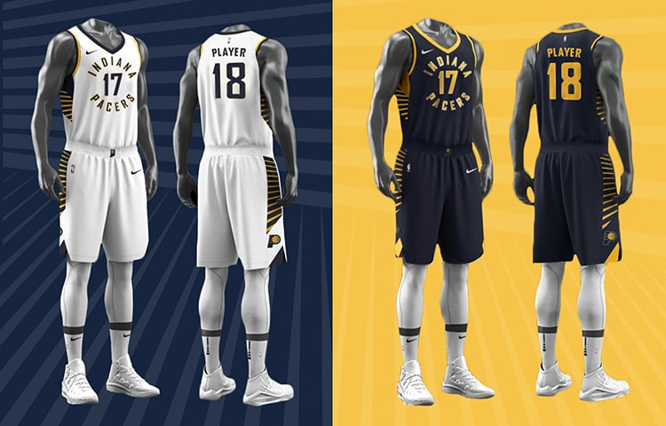 reputable site ba9cd 41f2c First Look: New Pacers Uniforms, Court, and More | Indiana ...