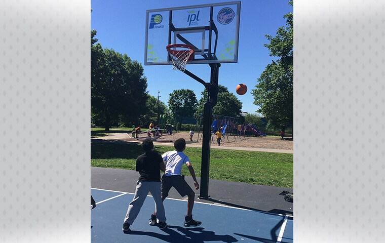 Pacers Foundation IPL Dedicate Indy Parks Basketball Courts