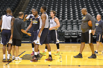 Frank Vogel at 2015 Pacers pre-draft workout