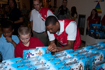 George Hill Attends Toy Giveaway at IPS 44