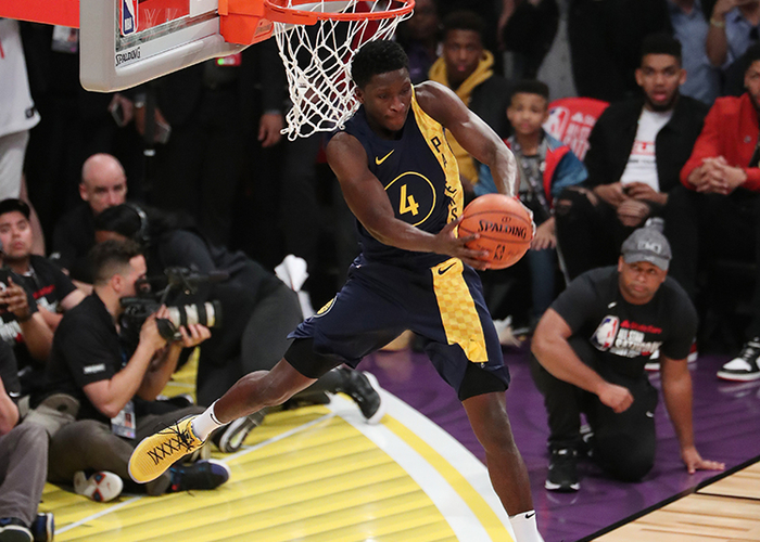 17 2018 During the Slam Dunk Contest Victor Oladipo was unable