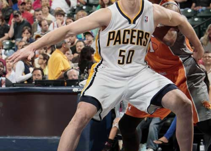 8cb850d10faa Forward Tyler Hansbrough is in his fourth season with the Pacers. Hansbrough  led all Pacers