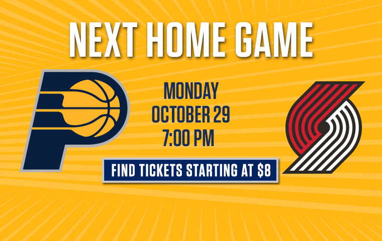 Secure Your Seats for Pacers-Trail Blazers