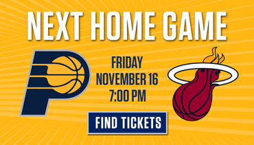 Next Home Game - Pacers vs Heat