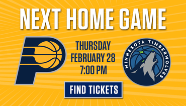Next Home Game - Pacers vs Timberwolves