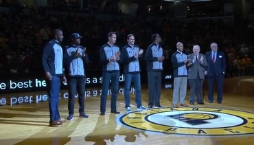 2000s Pacers Honored at Halftime