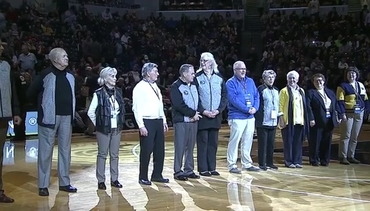 1970s Pacers Honored at Halftime